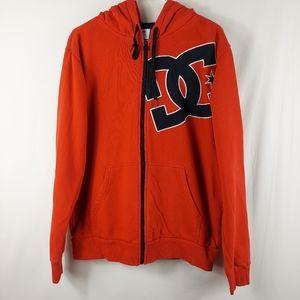 DC Red full zip hoodie size medium